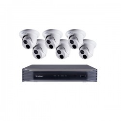88-SN8EBD27-2TB Geovision 8 Channel at 4K (2160p) NVR 48Mbps Max Throughput w/ Built-in 8 Port PoE - 2TB with 6 x 2MP Outdoor Eyeball IP Security Cameras
