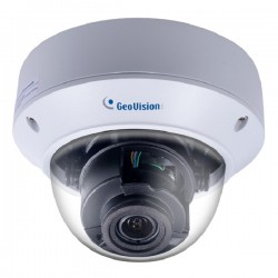 GV-AVD8710 Geovision 2.8~12mm Motorized 15FPS @ 8MP Outdoor IR Day/Night WDR Vandal Dome IP Security Camera 12VDC/POE