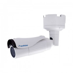 GV-BL4713 Geovision 2.8~12mm Motorized 20FPS @ 4MP Outdoor IR Day/Night WDR Bullet IP Security Camera 12VDC/24VAC/PoE