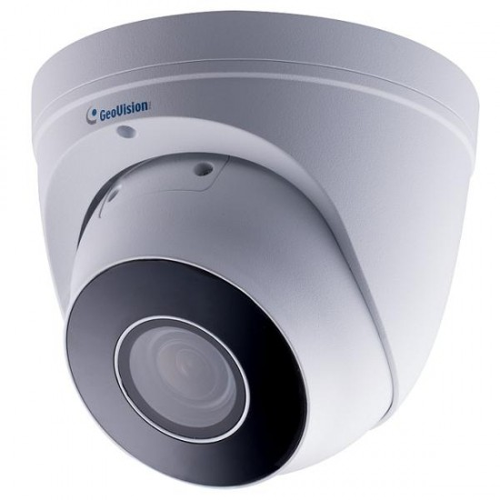 GV-EBD4711 Geovision 2.7-12mm Motorized 20FPS @ 4MP Outdoor IR Day/Night WDR Eyeball IP Dome Security Camera 12VDC/PoE