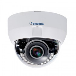 GV-FD8700-FR Geovision 3.3~12mm Varifocal 30FPS @ 8MP Indoor IR Day/Night WDR Dome IP Security Camera 12VDC/PoE