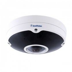 GV-FER12700 Geovision 1.2mm 20FPS @ 12MP Outdoor IR Day/Night WDR Fisheye IP Security Camera 12VDC/PoE