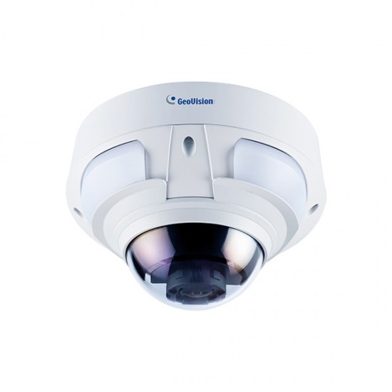 GV-VD4711 Geovision 2 8~12mm Motorized 20FPS @ 2592 x1520 Outdoor IR  Day/Night WDR Dome IP Security Camera 12VDC/24VAC/PoE+